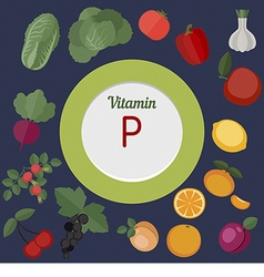 Vitamin p infographic vector