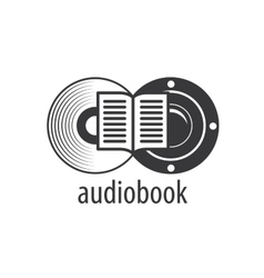 Audiobook logo template vector
