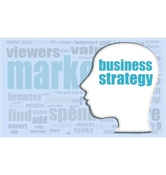 Business strategy head profile icon vector