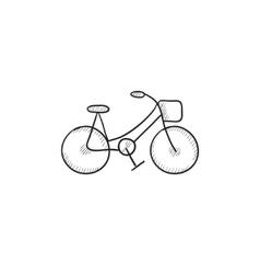 Bicycle sketch icon vector