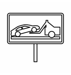 No parking sign icon outline style vector