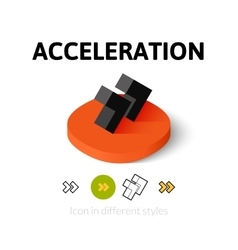 Acceleration icon in different style vector