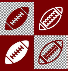 American simple football ball bordo and vector