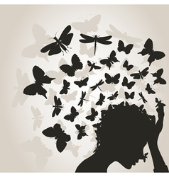 Butterflies from a head3 vector