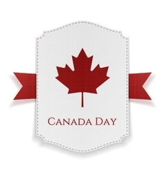 Canada Day national Banner with Ribbon vector image