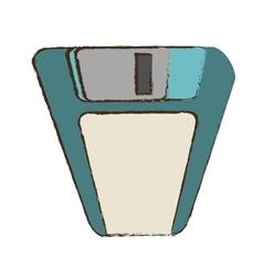 Cartoon floppy disk storage information office vector