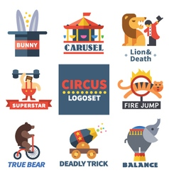 Circus emblems vector