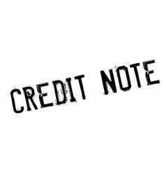 Credit note rubber stamp vector