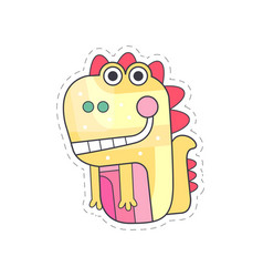 cute dragon colorful cloth patch applique for vector image vector image