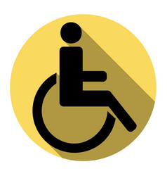 disabled sign flat black vector image