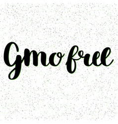 Gmo free hand drawn logo label vector