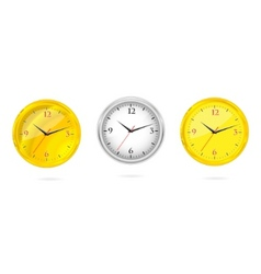 gold and silver clocks set vector image vector image