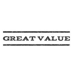 Great value watermark stamp vector