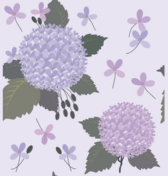 hydrangea and green gray leaves vector image vector image