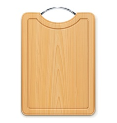 kitchen cutting board with vector image vector image