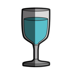 Light coloured silhouette of glass of wine with vector