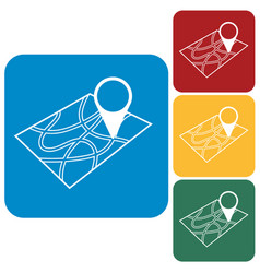 pointer on map icon vector image vector image