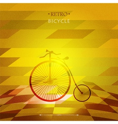 Retro bicycle on a grungy background vector image vector image