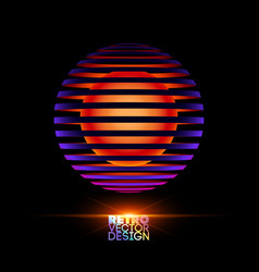 retro vintage design vector image