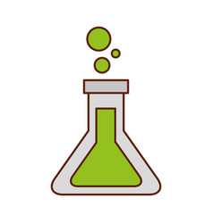 school test tube laboratory chemistry equipment vector image