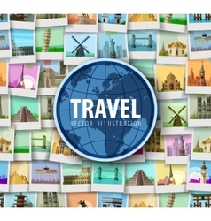 Travel historic architecture of the world vector