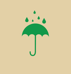 Umbrella packaging symbol no water sign icon vector