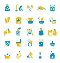 Washing and cleaning icons vector