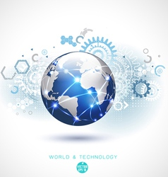World network communication and technology vector image