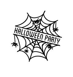 Happy halloween design  black badge and label vector