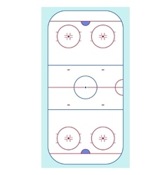 Ice hockey rink top view vector