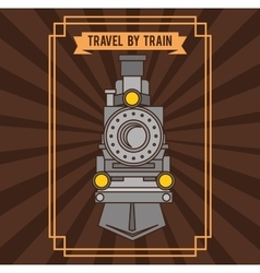Travel by train concept icon vector