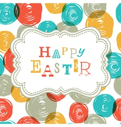 Colorful happy easter card design vector