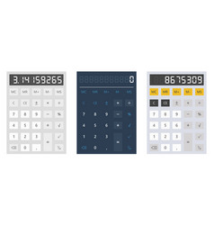 calculator on white background vector image