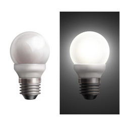 Energy saving lamps vector