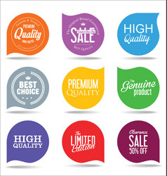 Abstract modern label collection 5 vector