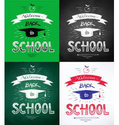 Welcome back to school posters vector