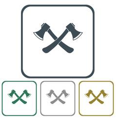 The ax icon vector