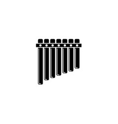 pan flute icon vector image