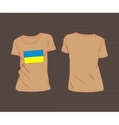 T-shirt with flag of ukraine vector