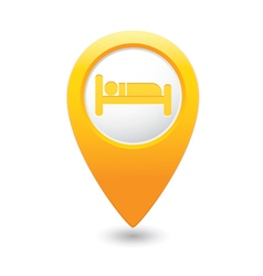 Bed2 map pointer yellow vector
