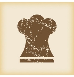 Grungy chef hat icon vector