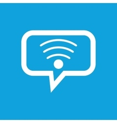 Wi-fi message icon vector