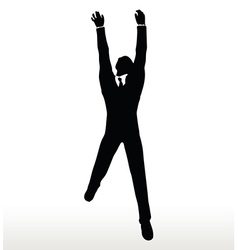 Silhouette of businessman hanging vector