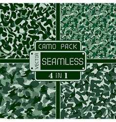 War green forest camouflage pack 4 in 1 seamless v vector