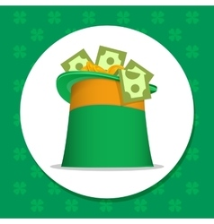 St patrick irish hat vector