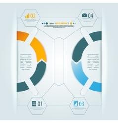 Minimal infographics 3d shadow design vector image