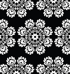Seamless floral polish folk art pattern vector