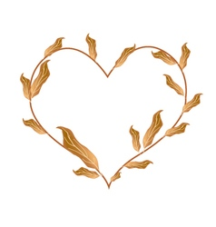 Beautiful Dried Leaves in A Beautiful Heart vector image vector image