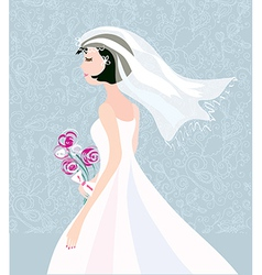 Bride card background with pattern cute design vector