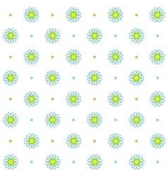 Chamomile seamless pattern simple floral design vector